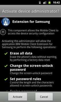 IBM Mobile Client for Samsung screenshot 1