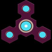 Fidget spinner : Hand spinner icon