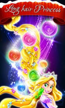 long hair princess bubble poster