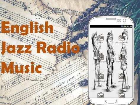 English Jazz Music Radio poster