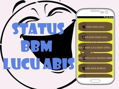 Status BM Lucu Abis poster