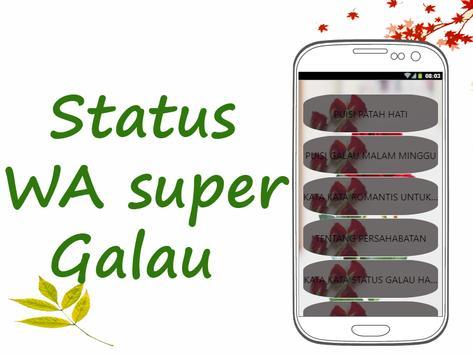 Status WA Super Galau poster