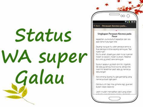 Status WA Super Galau screenshot 1