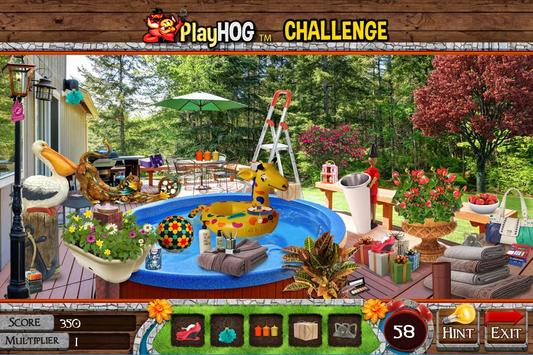 Hidden Object Games Messy Backyard Challenge # 320 poster