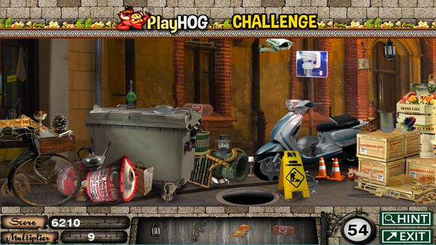 Challenge #46 Dark Alley Free Hidden Objects Games screenshot 2