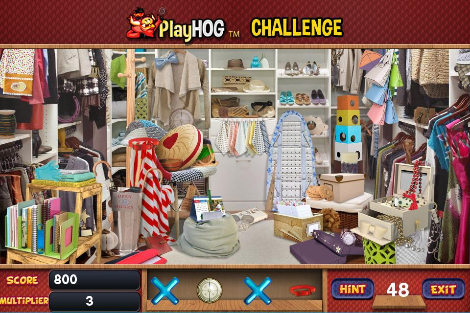 Challenge #241 My Closet Free Hidden Objects Games for