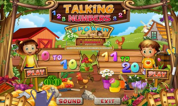Talking Numbers Learn Numbers poster