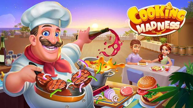Cooking Madness - A Chef's Restaurant Games الملصق