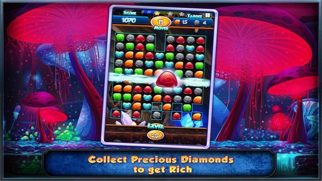 Match Three Free New Diamond Drop Match 3 Free New screenshot 4
