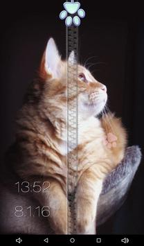 Cats Zipper Lock Screen apk screenshot