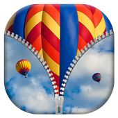 Hot Air Balloon Zipper Lock icon