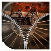 Bicycle Zipper Lock Screen icon