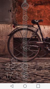 Bicycle Zipper Lock Screen apk screenshot