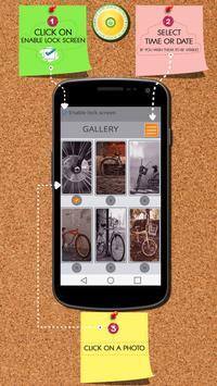 Bicycle Zipper Lock Screen poster