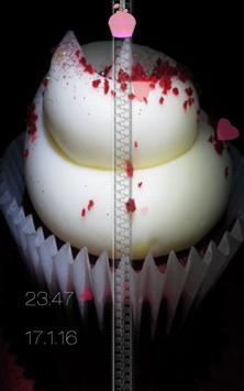 Dessert Zipper Lock Screen apk screenshot