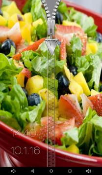 Food Zipper Lock Screen apk screenshot