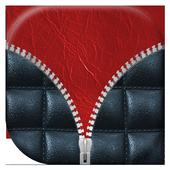 Leather Zipper Lock Screen icon