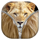 Lion Zipper Lock Screen icon