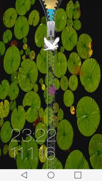 Nature Zipper Lock Screen apk screenshot