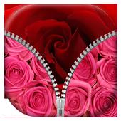 Rose Zipper Lock Screen icon