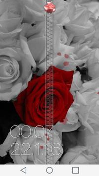 Rose Zipper Lock Screen apk screenshot