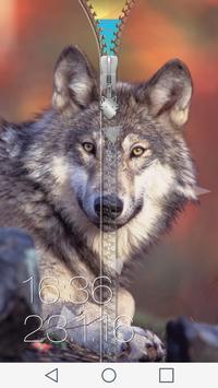 Wolf Zipper Screen poster