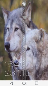 Wolf Zipper Screen apk screenshot