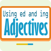 Using ed and ing adjectives icon