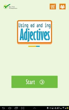 Using ed and ing adjectives poster