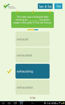 Using ed and ing adjectives apk screenshot