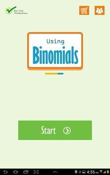 Using Binomials poster