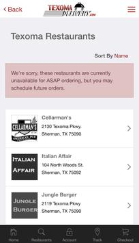 Texoma Delivery apk screenshot