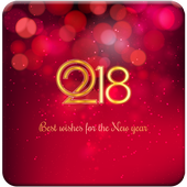 Happy New Year Best Greeting 2018 icon