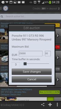 eBay: auction sniper place bid in the last seconds apk screenshot