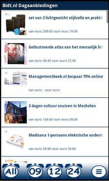 Dagaanbiedingen Bidt.nl poster