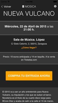 Mosica. Conciertos en Zaragoza screenshot 1