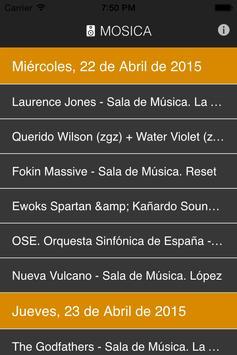 Mosica. Conciertos en Zaragoza screenshot 2