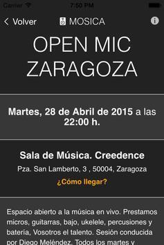 Mosica. Conciertos en Zaragoza screenshot 3