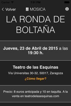 Mosica. Conciertos en Zaragoza screenshot 4
