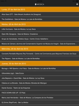 Mosica. Conciertos en Zaragoza screenshot 5
