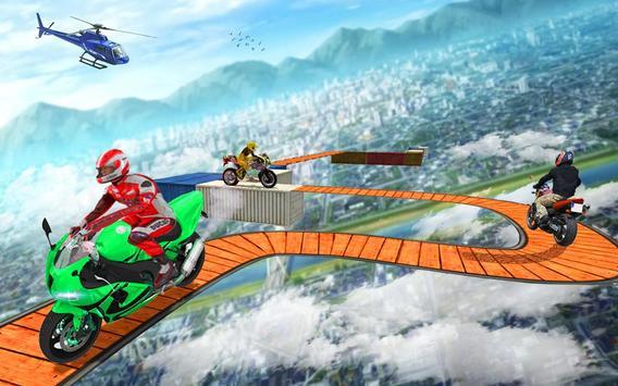 Impossible Bike Stunt Games 2018 3D: Tricky Tracks screenshot 26