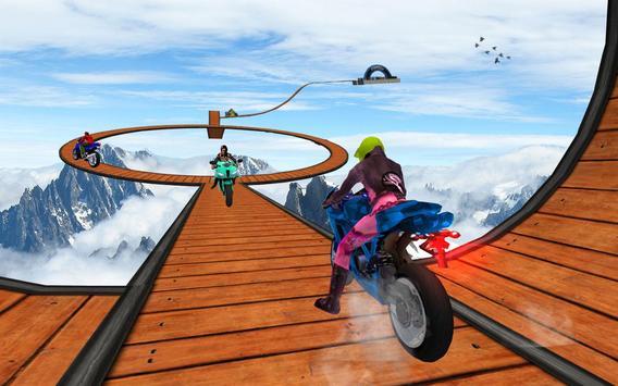 Impossible Bike Stunt Games 2018 3D: Tricky Tracks screenshot 4