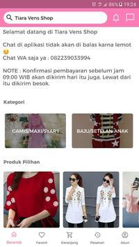 Tiara Vens Shop screenshot 1