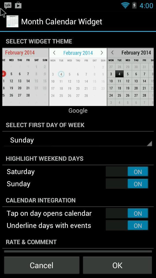 Month Calendar Widget for Android - APK Download