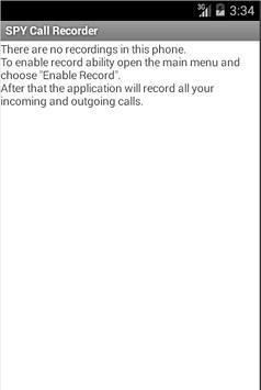 Spycallrecoder screenshot 1