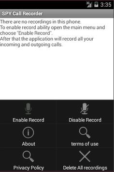 Spycallrecoder apk screenshot