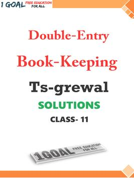 Account Class-11 Solutions (TS Grewal) poster