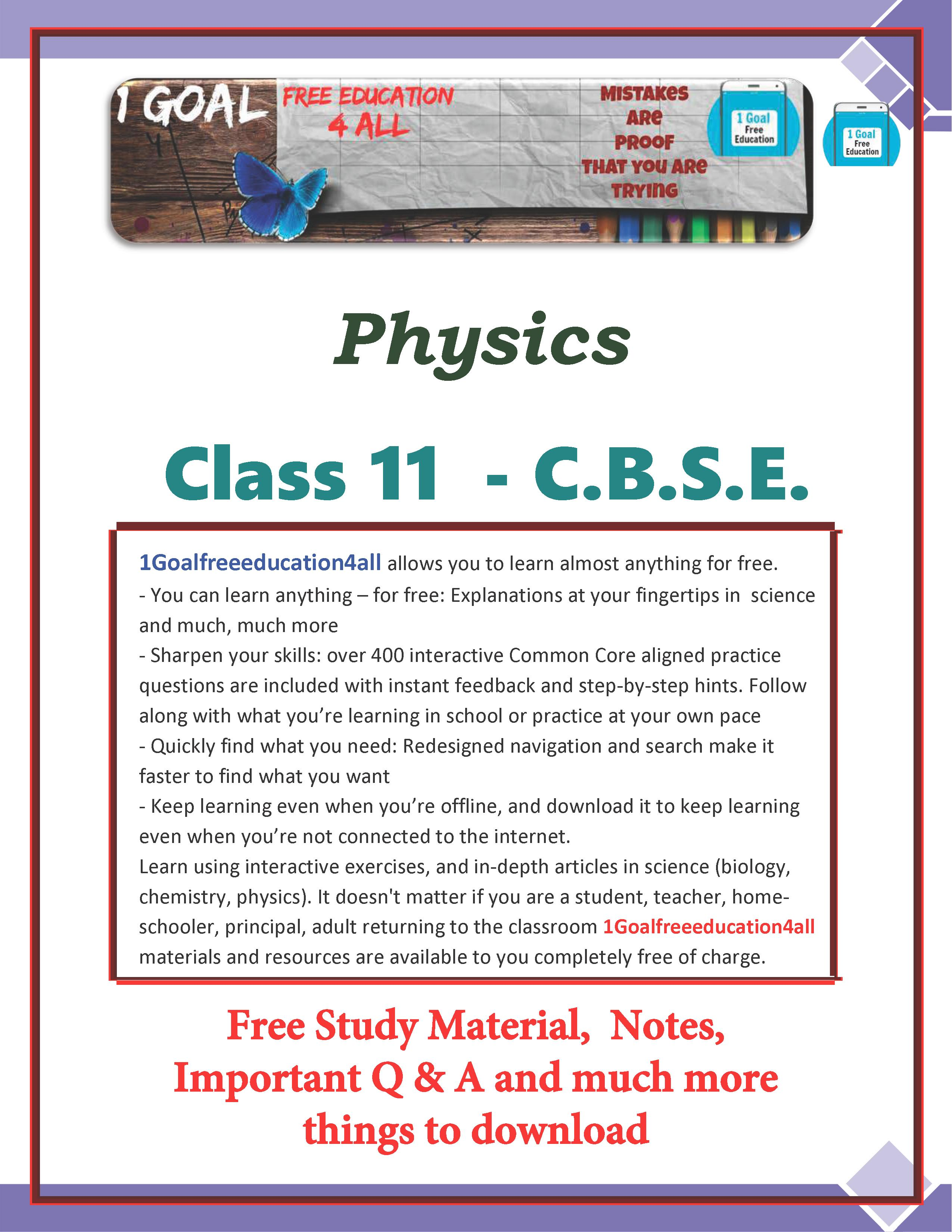 Physics Class-11 for Android - APK Download