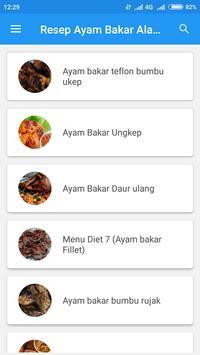 Resep Ayam BakarAla Restoran apk screenshot