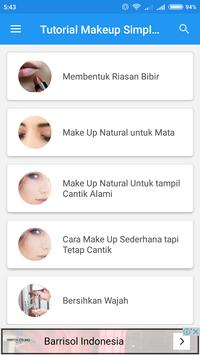 Tutorial Makeup Sederhana screenshot 1